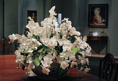 Photograph - A Centerpiece Of White Orchids by Cora Wandel