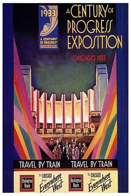 Progress Painting - A Century Of Progress - Vintage Exposition Poster - Chicago by Studio Grafiikka