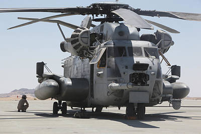 Sikorsky Photograph - A Ch-53 Sea Stallion Helicopter by Stocktrek Images