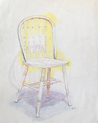 Drawing - A Chair by Alejandro Lopez-Tasso