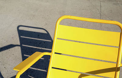 Photograph - A Chair And Its Shadow by Joseph S Giacalone