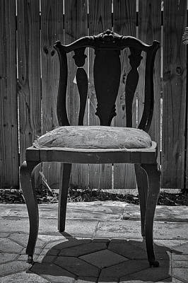 A Chair In Despair Art Print by DigiArt Diaries by Vicky B Fuller