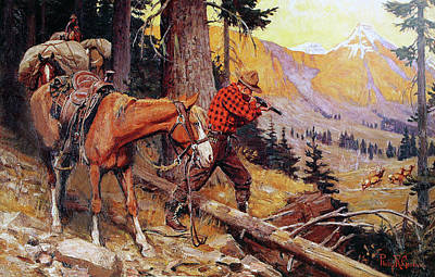 Painting - A Chance On The Trail by Philip R Goodwin