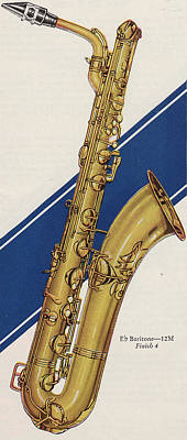 Brass Bands Painting - A Charles Gerard Conn Eb Baritone  by American School