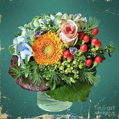 Photograph - A Charming Flower Bouquet 2 by Gabriele Pomykaj
