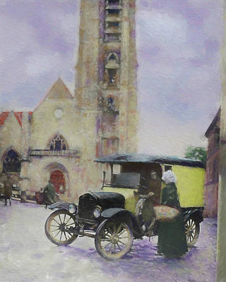 Digital Art - A Chat By The Cathedral Dop by David King
