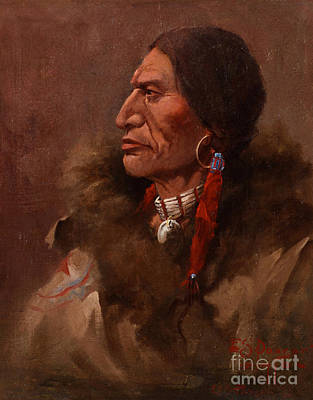 Edgar S. Paxson Painting - A Cheyenne Brave by MotionAge Designs
