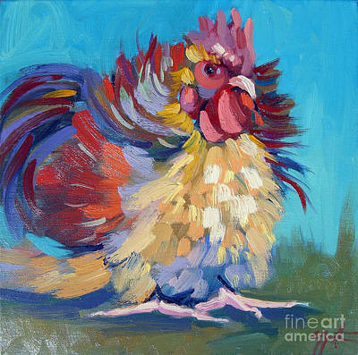 Painting - A Chicken Day by Sandra Smith-Dugan