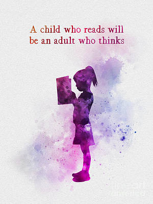 Children Book Mixed Media - A Child Who Reads by Rebecca Jenkins