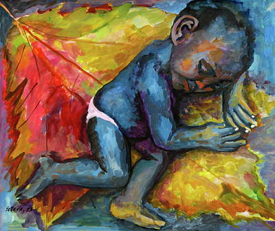 Painting - A Child by Yelena Tylkina