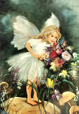 Fairys Painting - A Childs Dream by Sally Seago