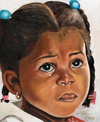 A Childs Tears Art Print