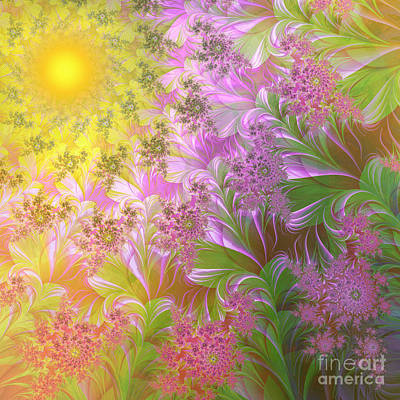 Fractal Painting - A Child's View by Mindy Sommers