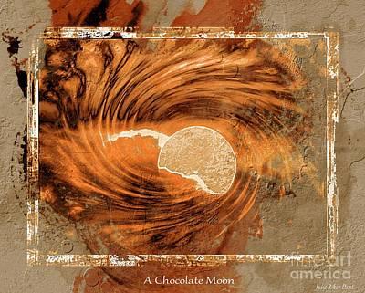Digital Art - A Chocolate Moon by Julie Dant