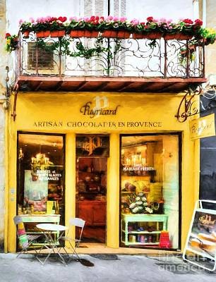 Chocolate Shop Photograph - A Chocolate Shop In France by Mel Steinhauer