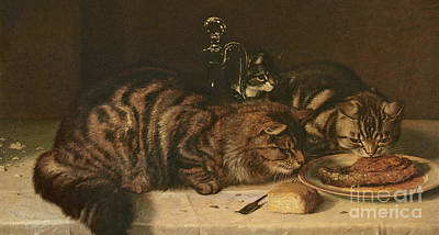 Sniffing Painting - A Chop For One by Horatio Henry Couldery