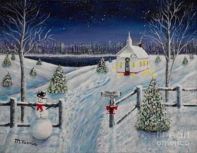 Painting - A Christmas Eve by Melvin Turner