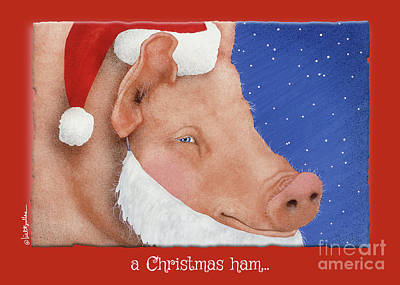 Painting - a Christmas ham... by Will Bullas