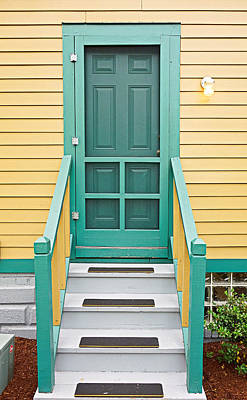 Photograph - A Christmas Story House Back Door by Robert Meyers-Lussier