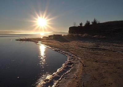 Bear Photography - A Christmas Sunrise at Wilson Lake, Kansas by Greg Rud