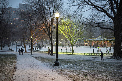 Photograph - A Christmas Walk Through The Boston Common Boston Ma by Toby McGuire