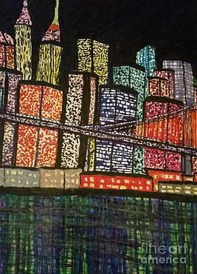 New York City Skyline Drawing - A Chunk  Of Home by Ishy Christine MudiArt Gallery