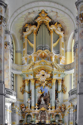 A Church Filled With Music - Church Of Our Lady Dresden Art Print