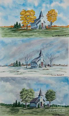 A Church For All Seasons Print by Charlotte Blanchard
