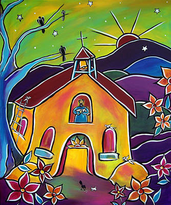 Painting - A Church For St. Francis by Jan Oliver-Schultz