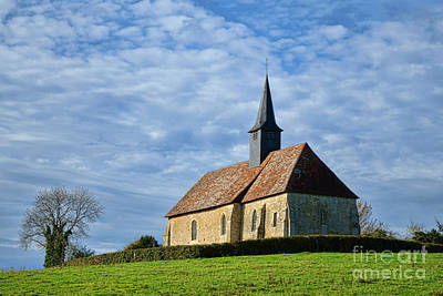 A Church In France Print by Olivier Le Queinec