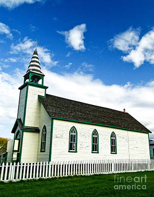 A Church In The Eighteen Hundreds Town Of Fort Steele Bc Canada Art Print by Emilio Lovisa