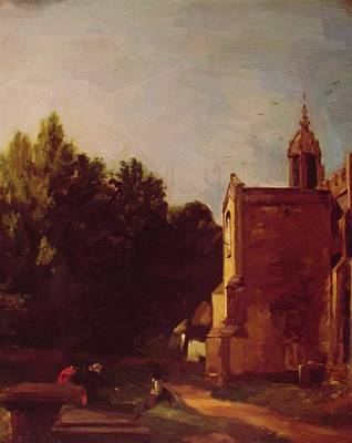 Painting - A Church Porch 1810 by Constable John