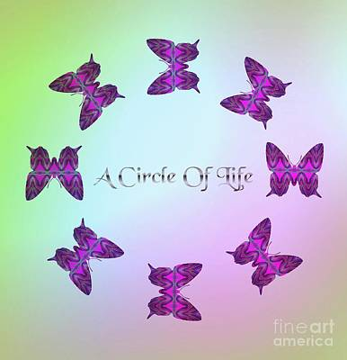 Digital Art - A Circle Of Life by Rachel Hannah