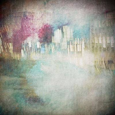 Abstract Skyline Wall Art - Photograph - A City Once #iphoneography by Christine OBrien