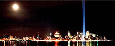 Twin Towers Trade Center Digital Art - A City's Lights by Richard Gerken