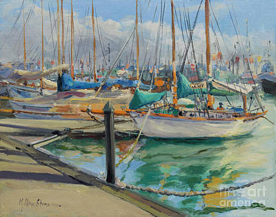 Painting - A Classic Lineup, Sailing Yachts  by Kristen Olson Stone