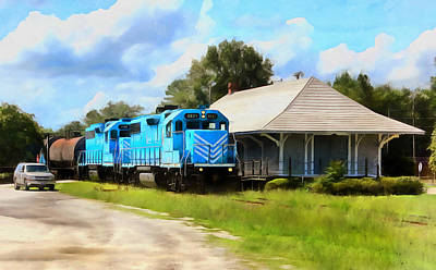 Photograph - A Classic Railroad Scene by Joseph C Hinson Photography