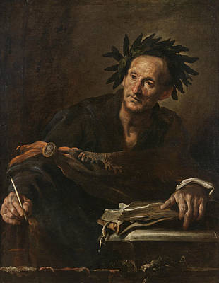 Painting - A Classical Poet by Domenico Fetti