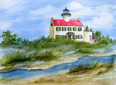 Painting - A Clear Day At East Point Lighthouse by Nancy Patterson