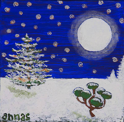 Painting - A Clear Midnight  by Angela Annas