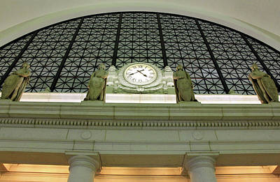 Photograph - A Clock At Union Station by Cora Wandel