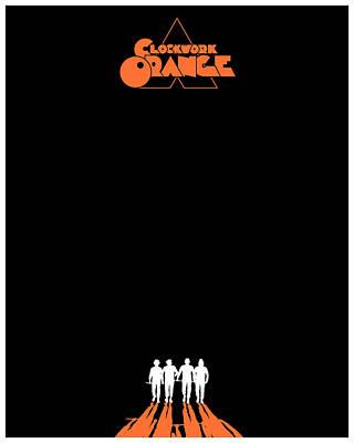 Kubrick Digital Art - A Clockwork Orange - Black by Finlay McNevin