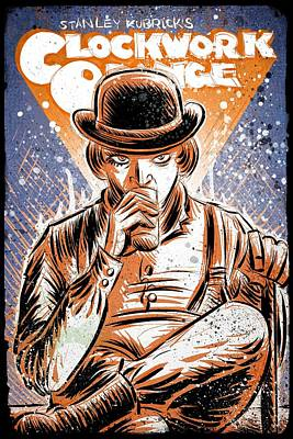 Science Fiction Drawing - A Clockwork Orange by Joseph Badon