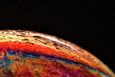 A Close Look At Soap Bubbles #2 Art Print by Mitch Spence