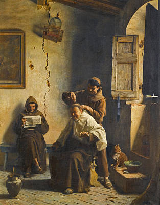 Painting - A Close Shave by Pietro Saltini