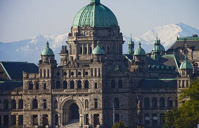 Stone Buildings Photograph - A Close View Of The Legislative by Taylor S. Kennedy