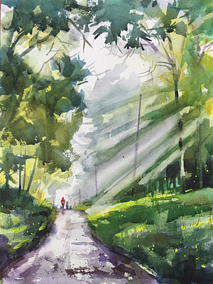 Gods Sunshine Painting - A Closer Walk With Thee by Spencer Meagher