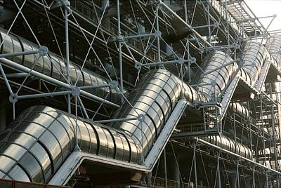 A Closeup Of A Modern Stairway Art Print by Carsten Peter