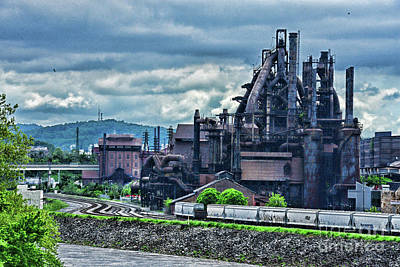 Photograph - A Cloudy Day At The Steel Mill by Paul Ward
