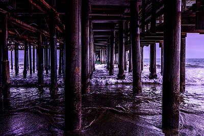 Photograph - A Cloudy Day Under The Pier by Gene Parks